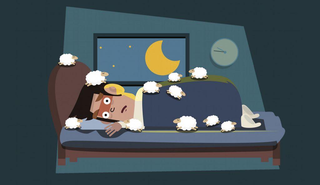 человек не может заснуть